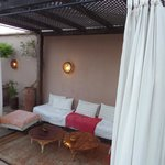 roof terrace lounge area