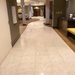 Clean tile near lobby and breakfast area