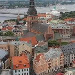 Riga Old Town view