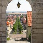 Blick vom Schlossplatz nach Ballenstedt