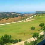 Vista Campo de Golf y Mar al fondo desde la terraza del Apartamento