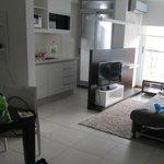 Living con cocina del apartamento