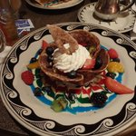 Berries & Custard with colored cream presentation