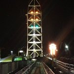 Top Thrill Dragster at night!!!