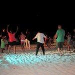 Beach night dance party!