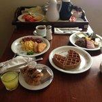 Room service breakfast delicious!