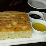 Focaccia bread with EVOO, balsamic vinegar and butter!