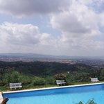 panorama di Firenze dalla piscina