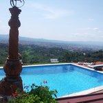 vista di Firenze dalla piscina