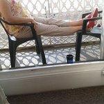 Relax on balcony before breakfast