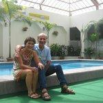 Super tranquila el área de pileta...agua fresquita para el calor de Guayaquil