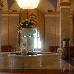 The marble fountain in the lobby was mined from the same quarry as Michelangelo's David