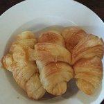 Honey glazed croissants