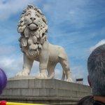 Lion Monument in Trafalgar Square