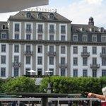 Schweizerhof Hotel - view from the lake