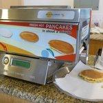 breakfast room with pancake machine