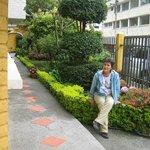 jardín de entrada