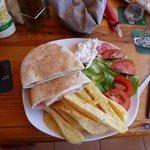 ham & cheese pita with homemade coleslaw :-)