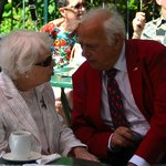 June Whitfield & Roy Hudd chatting