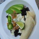 Avocado and tortilla