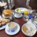 Breakfast in Hotel.