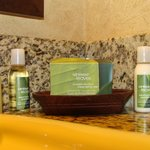 Pleasant bathroom items to use -  smelled nice.