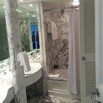 Bathroom in hotel room... lots of Marble