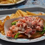 Lots of lobster in the lobster roll!