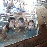 piscina aquecida com Tia Cotonete