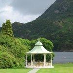 The gardens and pagoda used for weddings