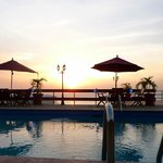 Pool Side Sunset