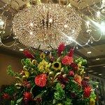 Beautiful chandelier at a bonus stop