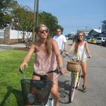 Pedaling along Front Street