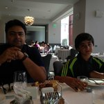 Syed Ali Abbas & Zain Ali Nasir during breakfast at Loews Hollywood