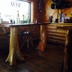 Cool knotty pine throughout