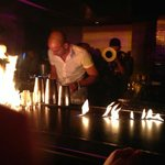 Bar on fire