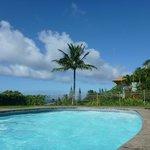 View from pool towards ocean