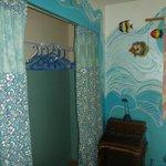 Master bedroom closet in Ocean Breezes house