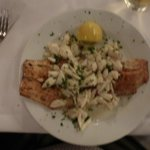 Grilled Drum and Crabmeat