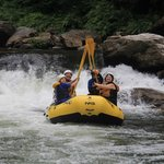 Paddle High-Five on the Chattooga River