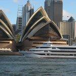 L'Opéra et la ville de Sydney en arrière plan vu du port