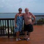 Terraza al mar Caribe
