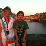 Sunset with the Ponte Vecchio