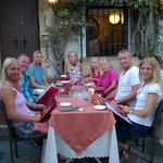 2 families enjoying a good meal