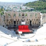 On way up to Acropolis, looking down into the theater.