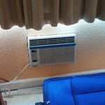 The barely working AC that is not big enough to cool the room