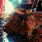 spaghetti con colata di ricci