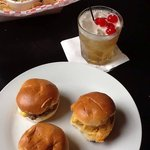 Slider sampler with what is left of the Cajun corn dip