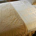 Le lenzuola nella camera che poi ci è stata sostituita