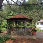Gazebo on grounds to relax in